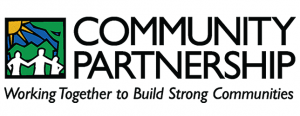 logo: community partnership, working together to build strong communities